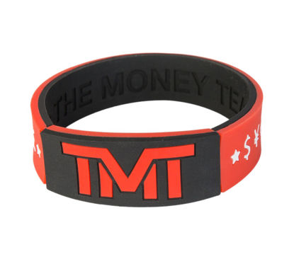 Изображение Браслет TMT черный/красный один размер