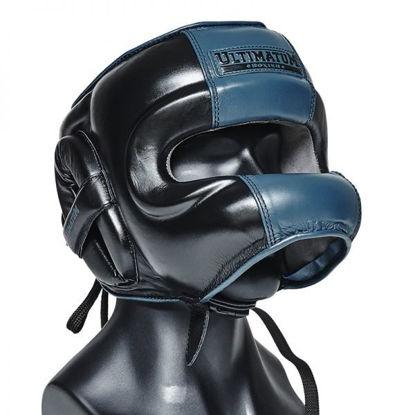 Шлем боксерский с бамперной защитой Ultimatum Gen3FaceBar черный/синий
