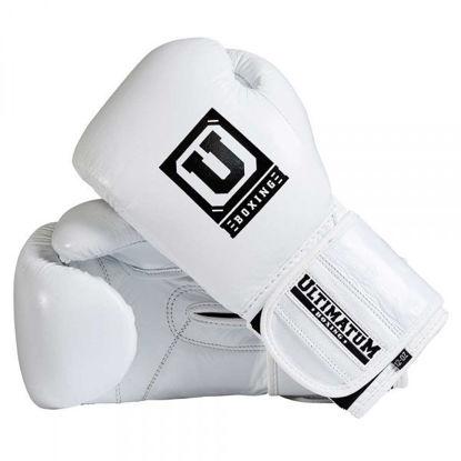 Универсальные боксерские перчатки, цвет белый