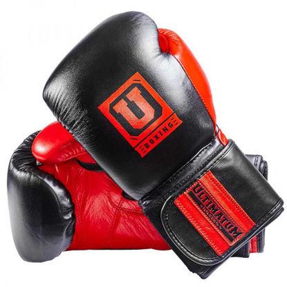 Универсальные боксерские перчатки, цвет чёрный и красный