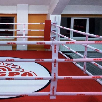 Перетяжки на канаты для боксерского ринга с нанесением логотипов