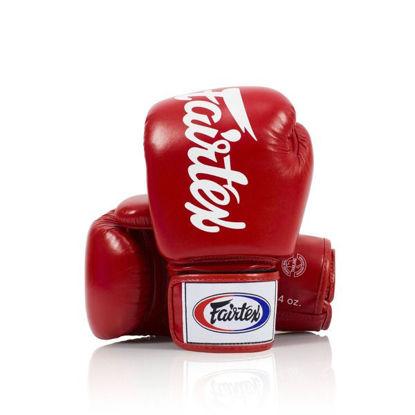 Тайский бокс перчатки Fairtex универсальные на липучке красный