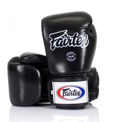 Тайский бокс перчатки Fairtex тренировочные на липучке черный