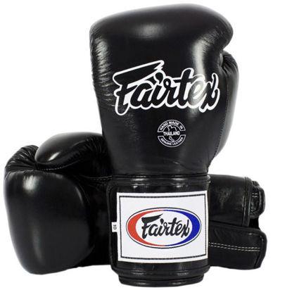 Тайский бокс перчатки Fairtex спарринговые на липучке черный
