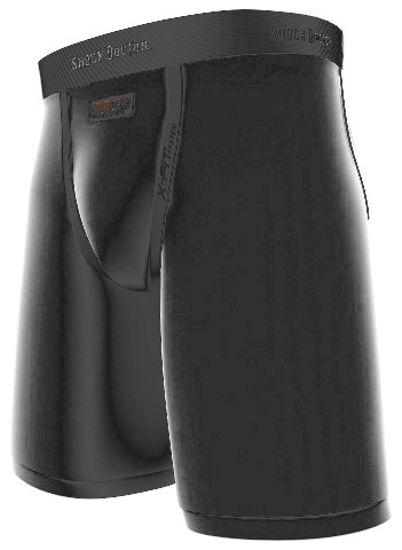 Изображение Ракушка с компрессионными шортами ShockDoctor чёрный XXL