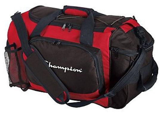 Изображение Сумка CHAMPION Deluxe Duffle Bag красно-чёрный один размер