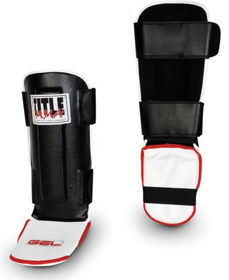 Изображение Щитки для голеней TITLE MMA GEL Pro Shin/Instep Guards чёрный L