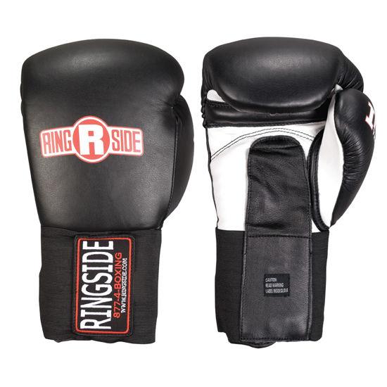 Изображение Тренировочные перчатки RINGSIDE IMF Tech™ Training Gloves (на липучке) черный 18 oz