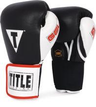 Изображение Тренировочные гелевые перчатки (на липучке) TITLE GEL® чёрно-белый 16 oz