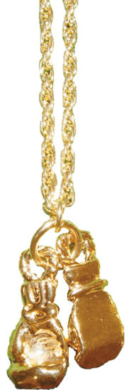 Изображение Сувенирная цепочка две перчатки TITLE золотистый один размер