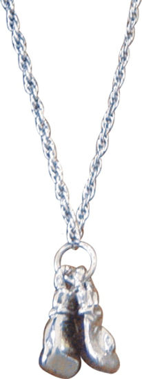 Изображение Сувенирная цепочка две перчатки TITLE серебристый один размер