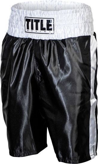 Изображение Классические шорты для бокса Title черно-белый L