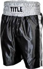 Изображение Классические шорты для бокса Title чёрно-серебрянный L