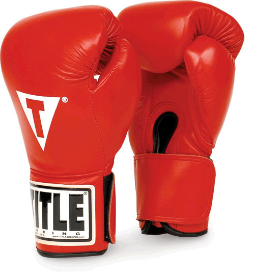 Изображение Снарядные боксерские перчатки Title красный M