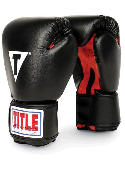 Изображение Тренировочные перчатки TITLE Classic черный REG