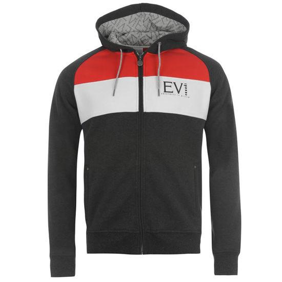 Изображение Мастерка с капюшоном Everlast тёмно-серый/белый/красный