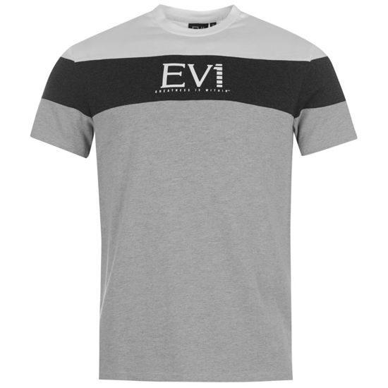 Изображение Футболка  Everlast серый/черный/белый