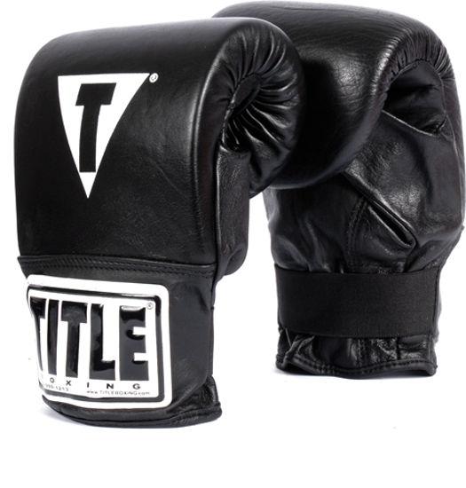 Изображение Снарядные боксерские перчатки TITLE черный M