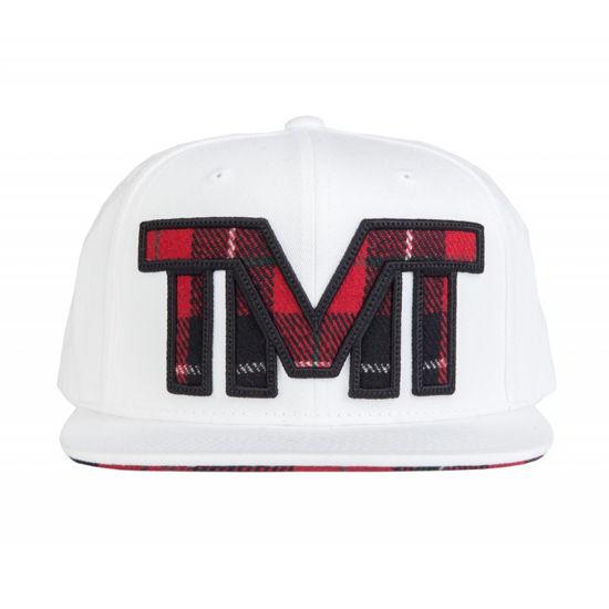 Изображение Бейсболка TMT Oxford белый/красный один размер
