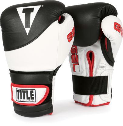 Изображение Перчатки тренировочные TITLE Gel Suspense черный/белый