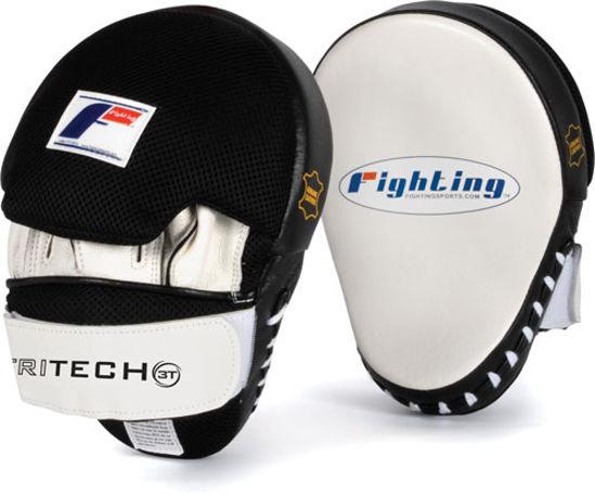 Изображение Лапы боксерские FIGHTING SPORT Tri-Tech черный/белый один размер