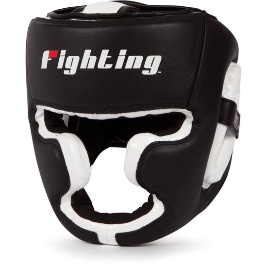 Изображение Шлем боксерский FIGHTING черный/белый
