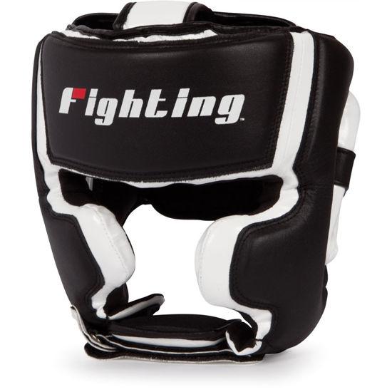 Изображение Шлем боксерский тренировочный FIGHTING SPORT черный/белый