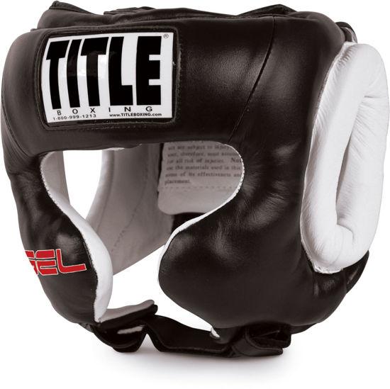 Изображение Шлем боксерский тренировочный TITLE GEL WORLD черный/белый