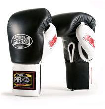 Изображение Тренировочные перчатки (на липучке) PRO GEL черный/белый 14 унций