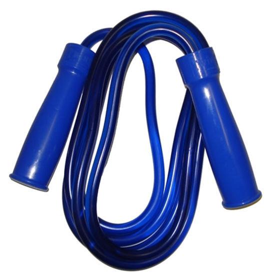 Изображение Скакалка Twins на подшипниках  (толстый шнур, ручки пластик, тяжелая, скоростная) синий 275см -9'