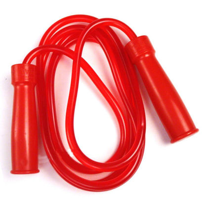 Изображение Скакалка Twins на подшипниках (толстый шнур, ручки пластик, тяжелая, скоростная) красный 275см -9'