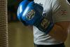 Изображение Тренировочные перчатки (на липучке) PRO синий 12 унций