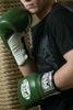 Изображение Профессиональные перчатки для бокса (на шнуровке) зеленый 10 унций