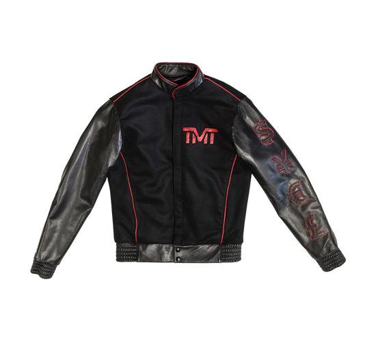 Изображение Куртка кожаная TMT MONEY черный/красный