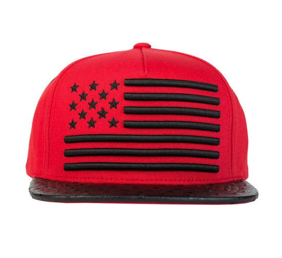 Изображение Бейсболка TMT AMERICAN DREAM красный/черный один размер