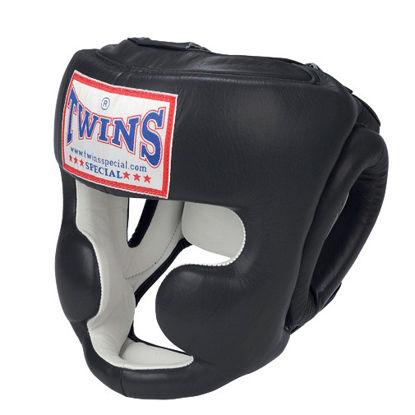Изображение Шлем боксерский TWINS черный/белый
