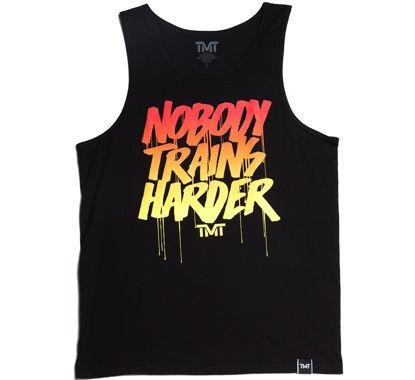 Изображение Майка для тренировок TMT NOBODY TRAINS HARDER черный/красный/желтый