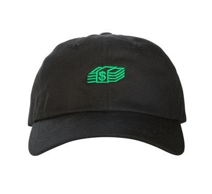 Изображение Бейсболка TMT MONEY STACK черный/зеленый один размер