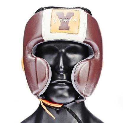 Изображение Детский боксерский шлем Ultimatum Youth Cherry  коричневый