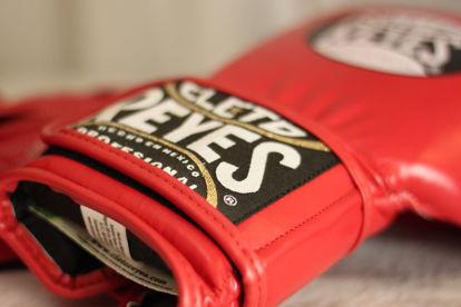 Изображение Перчатки тренировочные CLETO REYES на липучке красный