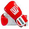 Универсальные боксерские перчатки, красный и белый цвета