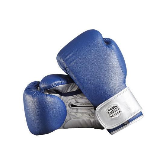 Синиее боксерские перчатки на липучке, бюджетно