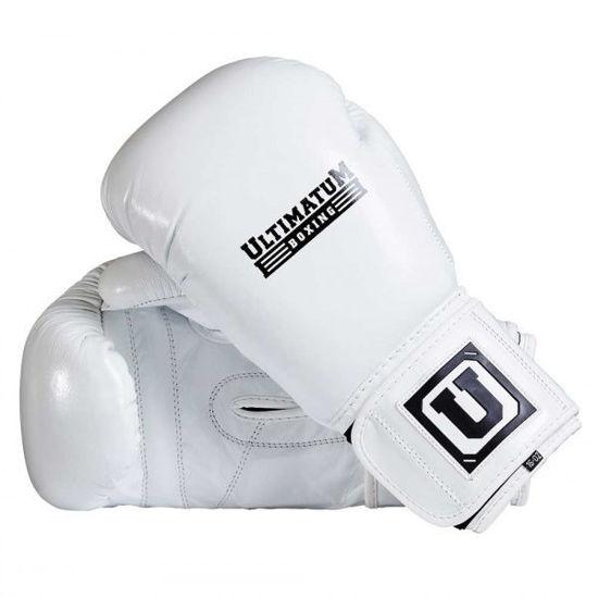 Спарринговые боксерские перчатки белые
