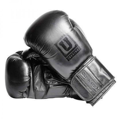 Спарринговые боксерские перчатки чёрные