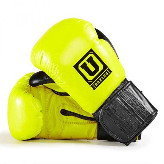 Спарринговые боксерские перчатки жёлтый цвет