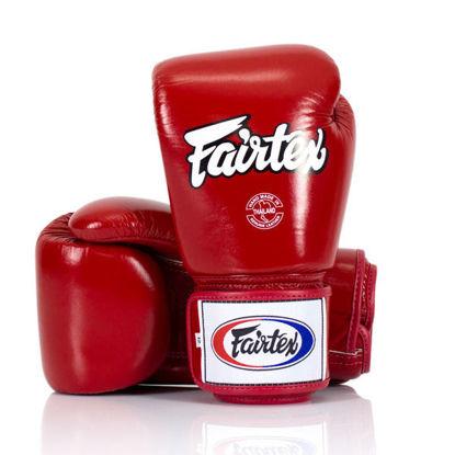 Тайский бокс перчатки Fairtex тренировочные на липучке красный