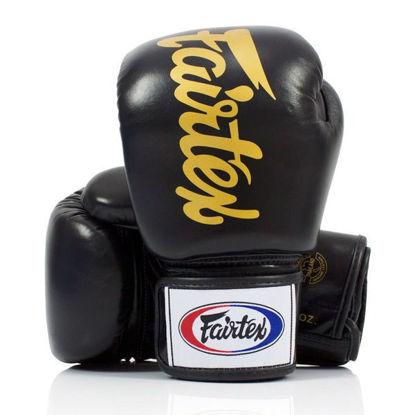 Тайский бокс перчатки Fairtex универсальные на липучке черный