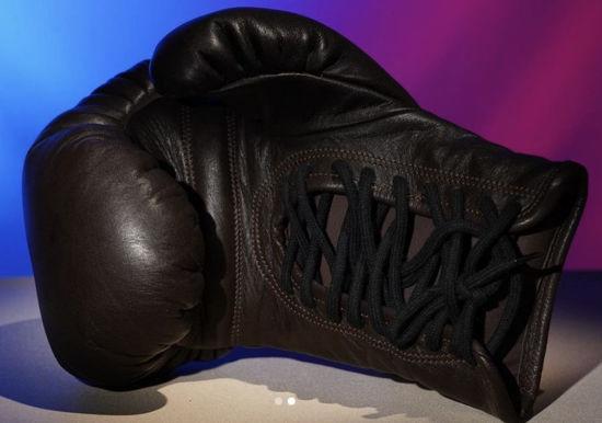 Кожаные боксерские перчатки «Старая школа для души» индивидуальный дизайн, шнуровка